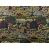 *4 YD PC--Multi Designer Fisherman Landscape Tapestry Home Decorating Fabric