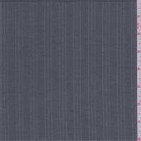*4 YD PC--Dark Grey/Silver Pinstripe Poly Blend Suiting