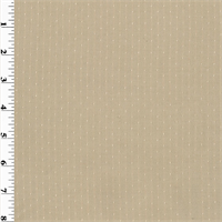 *1 YD PC--Beige Wool Dotted Crepe Suiting