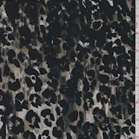 *2 1/4 YD PC--Stone/Moss Camo Cheetah Jersey Knit