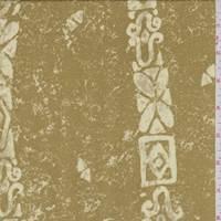 *3 YD PC--Antique Gold Art Deco Stripe Rayon Challis