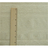 *2/3 YD PC--Ivory Wool Stripe Coating
