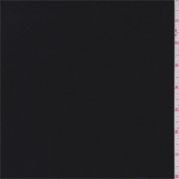 *1/2 YD PC--Midnight Black Wool Gabardine Flannel
