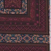 Maroon Block Jersey Knit