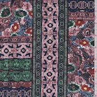 Berry Purple Multi Floral Patchwork Jersey Knit