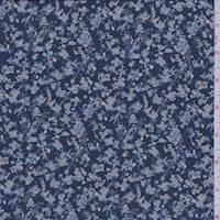 Marine Blue Mini Floral Jersey Knit