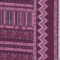 Cranberry Zig Zag Jersey Knit