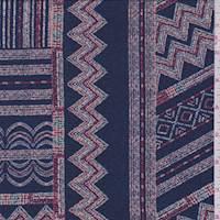 Sapphire Zig Zag Jersey Knit