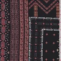 Black/Red Multi Patchwork Jersey Knit