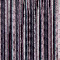 Plum Multi Brushstroke Pinstripe Jersey Knit