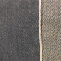 *3 7/8 YD PC--Stone Gray Cotton Japanese Selvedge Denim