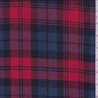 *1 YD PC--Bright Red/Blue Plaid Flannel