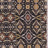 Black/Gold Diamond Jersey Knit