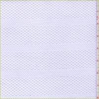 White Mesh Stripe Jersey Knit