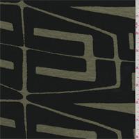 *2 2/3 YD PC--Olive/Black Modern Print Rayon Jersey Knit