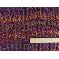 *1 YD PC--Warm Purple/Multi Wool Sweater Rib Knit