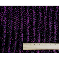 *1 YD PC--Black/Purple Wool Blend Sweater Rib Knit