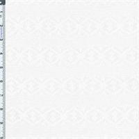 *1 5/8 YD PC--White Stripe Jacquard Knit