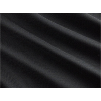 *4 YD PC--Black Wool Blend Crepe
