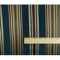 *3 YD PC--Navy Blue/Multi Stripe Home Decorating Fabric