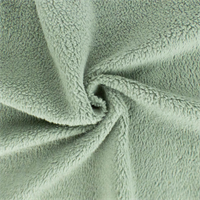 *2 YD PC--Light Gray Single-sided Berber Fleece