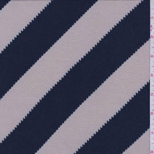 b518f50b9dbb6 Stone Navy Diagonal Stripe Sweater Knit - 73493