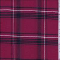 *4 7/8 YD PC--Rouge Red Plaid Flannel