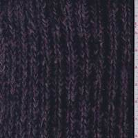 *1 1/2 YD PC--Grey/Black/Purple Chunky Sweater Knit