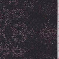 Maroon/Ink Mottled Jersey Knit