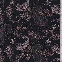Black Floral Paisley Jersey Knit