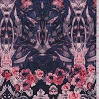 Violet Blue Floral Jersey Knit