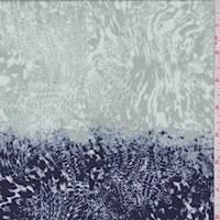 Iris/Sage Marbled Jersey Knit