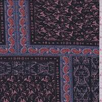 Black/Mauve Block Jersey Knit