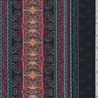 Black Multi Lily Print Jersey Knit