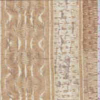 Cashew Zebra Stripe Jersey Knit