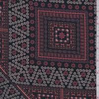 Black/Rust Block Print Jersey Knit