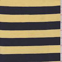 Navy/Maize Stripe Jersey Knit