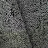 Gray/Black Wool Blend Herringbone Jacquard
