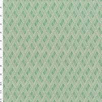 Teal/White Diamond Jacquard Home Decorating Fabric
