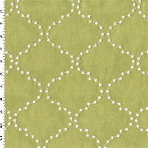 Green White Ogee Dot Embroidered Woven Decorating Fabric Dfw53824 Buyfabrics Com