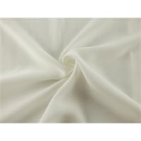 *3 3/4 YD PC--White Double Weave Crepe