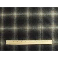 *2 1/4 YD PC--Brown/Black Wool Blend Plaid Flannel