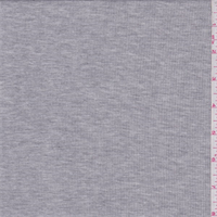 *1 1/2 YD PC--Silver Grey Heather Rib Knit