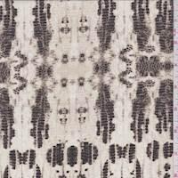 Ivory Snakeskin Silk Crepe de Chine