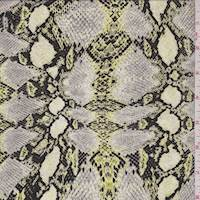 Light Pear Snakeskin Silk Crepe de Chine