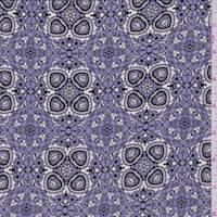 Periwinkle Purple Kaleidescope Silk Crepe de Chine