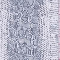 Vintage Blue Snakeskin Silk Georgette