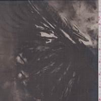 Timber/Black Mottled Silk Chiffon