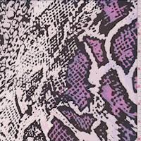 White/Pink Snakeskin Silk Chiffon