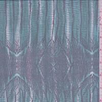 Cyan Seismic Silk Chiffon